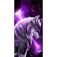 大人のためのパズル1000ピース紫オオカミジグソーパズル1000ピース