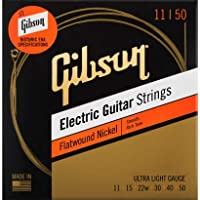 Gibson ギブソン Flatwound Electric Guitar Strings (Ultra Light/11-50) [SEG-FW11]