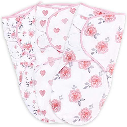 Swaddle Blanket, Baby Swaddle Wrap for Infant (0-3 Month), Adjustable...