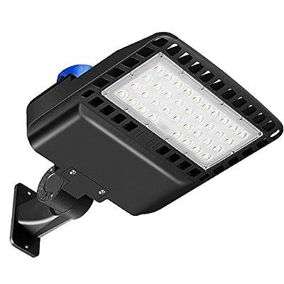 LED Parking Lot Light with Photocell - LED Street Light Daylight White?100W-300W?- Super Bright Wall Mount Barn Light - for Outdoor Docks Driveways Bay Backyards Area Yard Light, IP65 Waterproof
