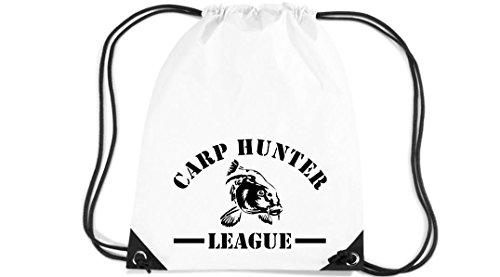 Camiseta stown Premium gymsac Carp Hunter League Pesca, color Blanco - blanco,...