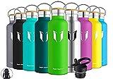 Super Sparrow Trinkflasche Edelstahl - 750ml - Auslaufsicher Thermoskanne, BPA-Frei Wasserflasche - Kohlensäure Thermosflasche für Kinder, Sprudel, Sport, Uni, Schule, Fitness, Outdoor, Camping