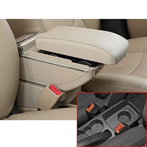 ZDNB Consola Central del Brazo La Caja del Apoyabrazos del Automóvil para Ford Fiesta 3 Mk7 2009-2013 2014 2015 2016 2017 Realce La Consola Central del Apoyabrazos del Automóvil De Doble Capa con