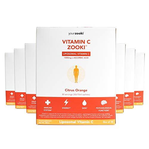YourZooki Liposomal Vitamin C 1000mg - 12 Month Supply (360 Sachets) - Vitamin C Zooki 12 Boxes
