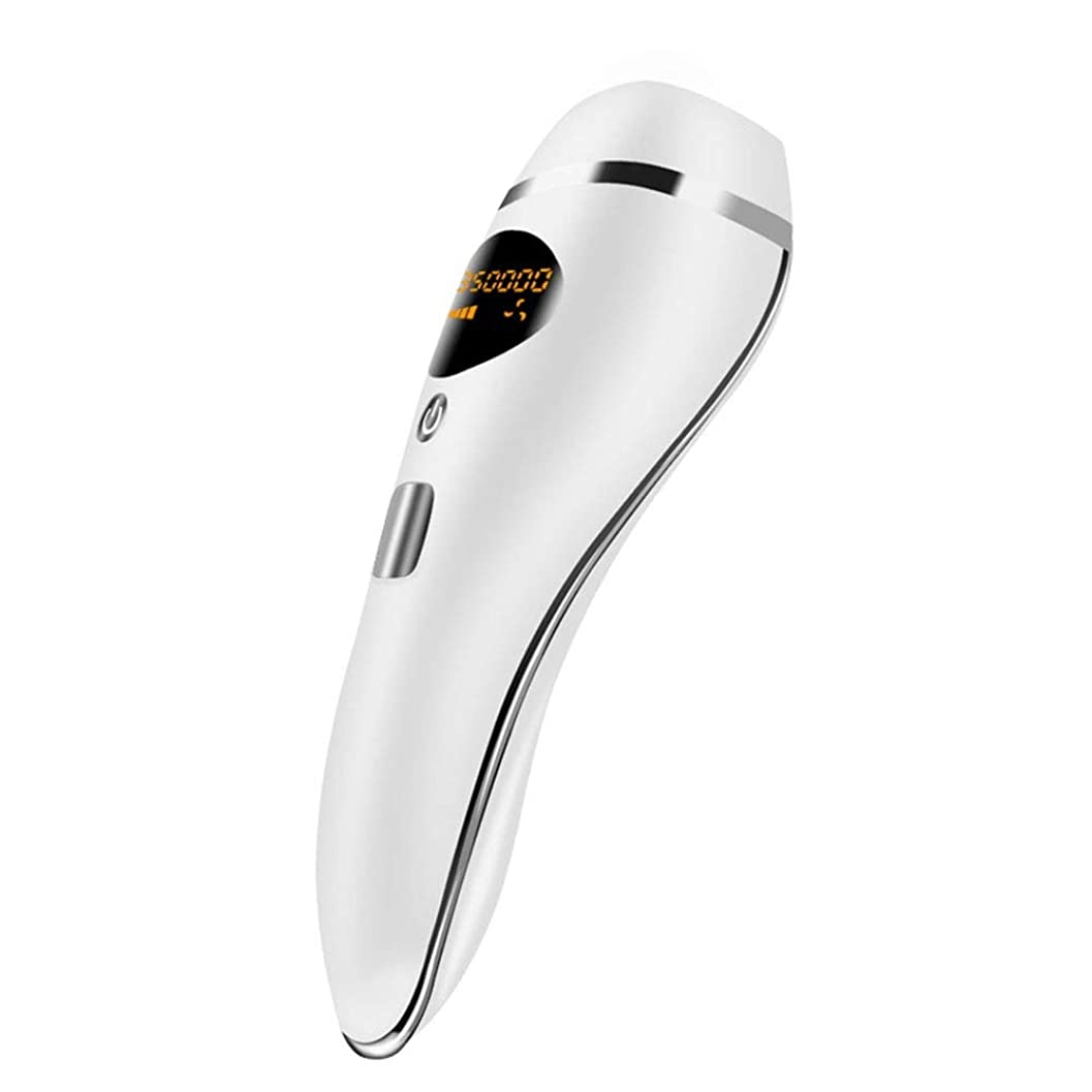 ゴミ箱ショートカット許容できる自動全身無痛脱毛剤、ホワイト、ポータブルパーマネントヘアリムーバー、デュアルモード、5速調整、サイズ20.5x7cm 髪以外はきれい