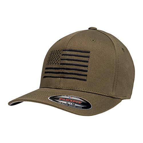 Eagle Six Gear American Flag Flexfit Hat Olive