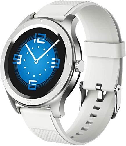 DHTOMC Reloj inteligente 1.3 pulgadas ip67 impermeable pantalla táctil completa botón Bluetooth deportes información inteligente recordatorio reloj de gama alta blanco