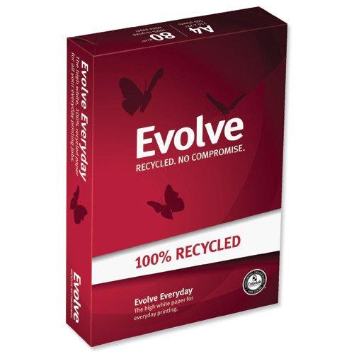 Evovle Recycling kopieerpapier DIN A4, 2500 vellen = 1 kartonnen doos