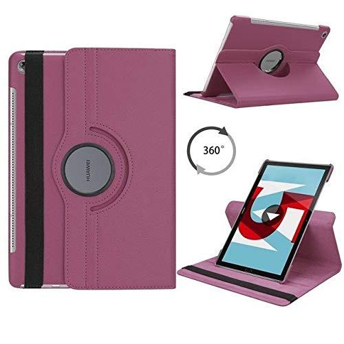 JiuRui-504 kuaijiexiaopu Custodie for Huawei MediaPad M5 10.8, 360 di Cuoio girante dell'unità di Elaborazione di Vibrazione di Caso astuto di Tablet Huawei MediaPad for M5 PRO 10 10,8