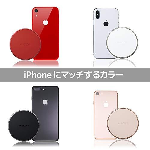 エレコムワイヤレス充電器Qi対応薄型[最大出力10W(Galaxy10W/iPhone他5W)]卓上シルバーW-QA09XSV