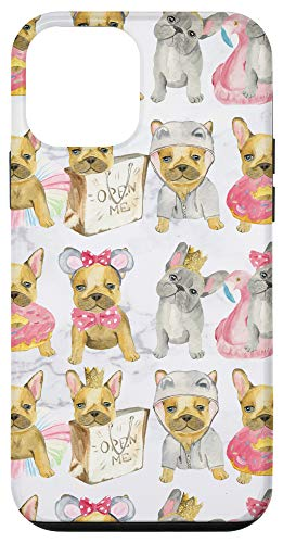 iPhone 12 mini Cute French Bulldog Puppies Phone Case - Puppy Lovers Gift Case