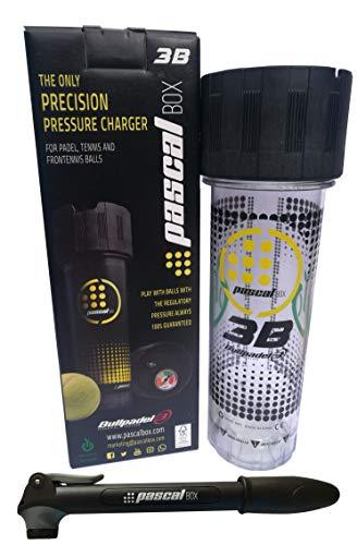 Pascal Box 3B - El único Sistema Presurizador Completo y de Alta Precisión para Pelotas de Tenis, Pádel y Frontenis. Juega con la presión reglamentaria, Siempre.