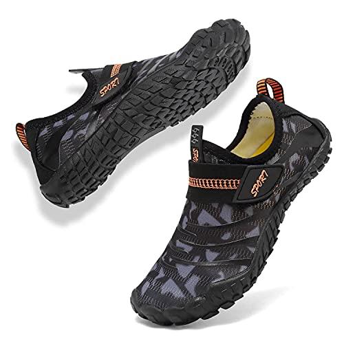 [Hanani] マリンシューズ キッズ ウォーターシューズ 子供用 軽量 通気 速乾 アクアシューズ ビーチサンダル シュノーケリング 水用靴 携帯便利 ベビーシューズ