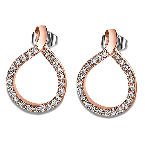 Lotus Style LS1948-4/2 D3JLS1948-4-2 - Pendientes de acero inoxidable para mujer, color oro rosa