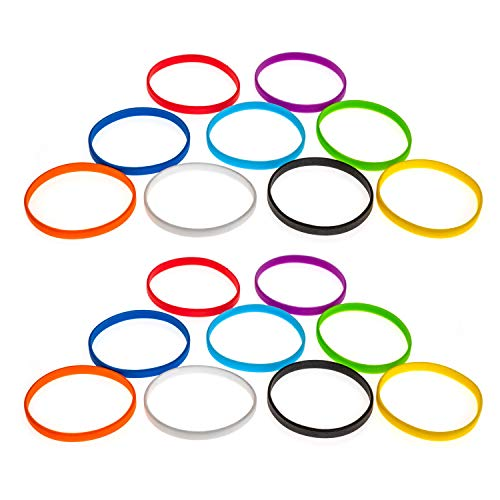 Grifiti Band Joes 4 x .25 Silicone Rubber Bands Wrist Cooking Durable Boxes Wraps 20 Pack Assorted Colors