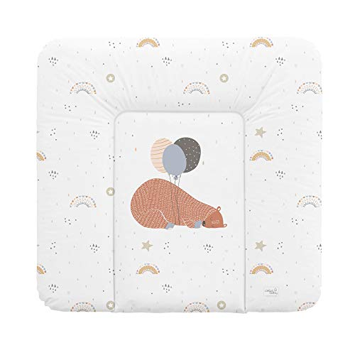 Ceba Baby Fasciatoio Materassino Fasciatoio 70x50 cm, 70x75 cm, 70x85 cm Cuscino Fasciatoio Lavabile per bambine e bambini - grande orso 70 x 75