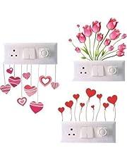 Techgifti™ Switch Board Sticker, Switch Stickers, Wall Stickers, Light Switch Sticker Set of 3