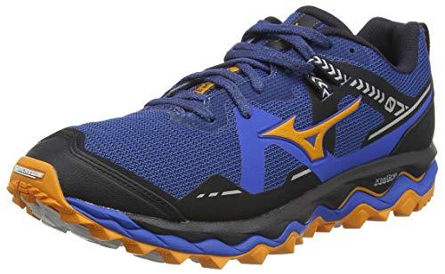 Mizuno Wave Mujin 7, Zapatillas para Carreras de montaña Hombre, Azul/Lunarrock/Forange, 40.5 EU