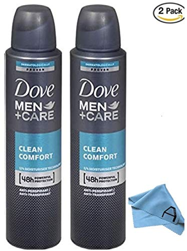 Dove Men Care Clean Comfort Spray Deodorant Pack of 2
