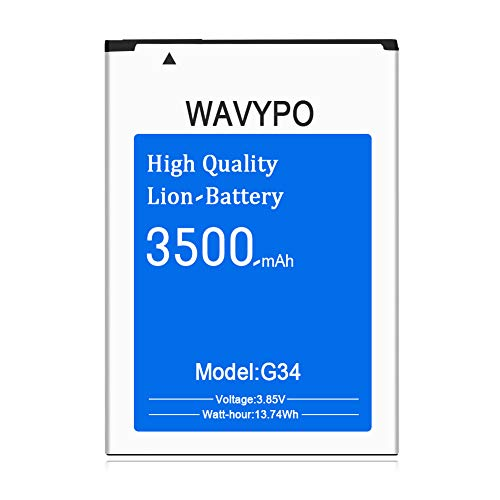 Wavypo Compatible with G3 Battery, 3500mAh Replacement Battery for G3 BL-53YH, D852, D855, D850, D851, VS985, LS990, G3 Spare Battery