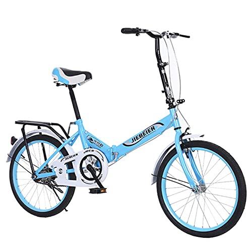 Bicicleta Plegable De 20 Pulgadas, Bicicleta Ultraligera Portátil, Manillar Y Asiento Ajustables, Adecuado para Adolescentes Y Adultos