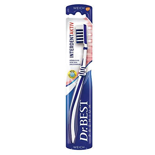 Dr. Best Interdent Aktiv Zahnbürste, weich, für eine gründliche Reinigung der Zahnzwischenräume mit Spezialborsten, 1 Stk.
