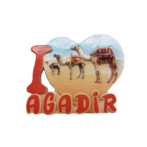 3D Agadir Marokko Kühlschrankmagnet Tourist Travel Souvenirs Handgemachte Harz Handwerk Magnetische Aufkleber Home Küche Dekoration Kühlschrankmagnet Sammlung Geschenk