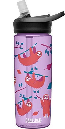 CAMELBAK Botella de agua para bebidas, deportiva, 0,4 litros, Eddy+ Sloths, 600 ml, Tritan, violeta, naranja, negro, multicolor, plástico, 0,6 litros