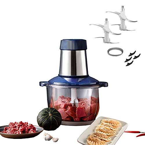 350W2.2L Procesador De Alimentos Totalmente Automático Multifuncional Tazón De Vidrio Cuerpo Carne Picada, Verduras, Cocción, Agitación, Máquina De Cocción De Ajo Complementaria