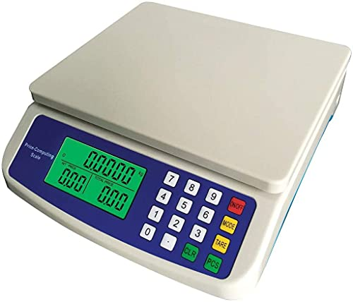 FeiKe Escala De Cálculo De Precio Digital Básculas De Precisión Digitales LCD Báscula De Tienda Comercial Pantallas De Pantalla LCD De Báscula De Mesa De Pesaje (Tamaño: 30 Kg/1G)