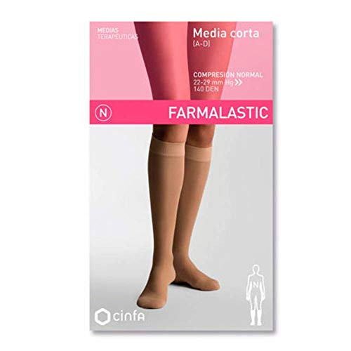 CINFA Farmalastic media corta normal beige med