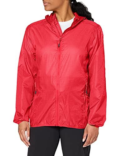 CMP Damen Packpocket rain Jacket Regenjacke, Ibisco-Coral, D46
