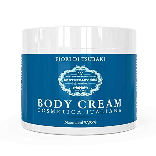 Apothecary 1982 - Body Cream - Crema Idratante Corpo ai Fiori di Tsubaki - la tua pelle levigata, vellutata, rassodata, idratata - Naturale al 97,95%