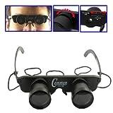 YANGJIAN 3x28mm Kunststoff-Spielzeug Fernglas mit 3 Brillen (Myopie/Hyperopie/Normal Optical) (Schwarz)