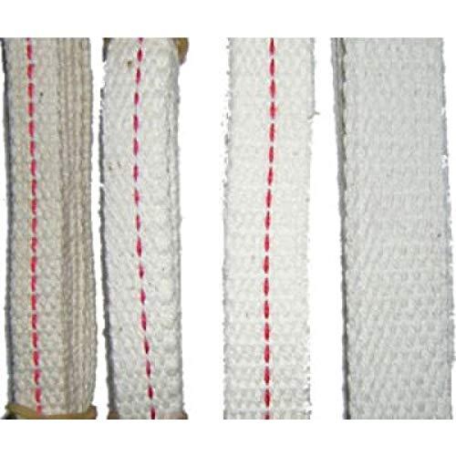 3/4 in Wide Flat Cotton Wick for Kerosene Oil Lamps 6 in Long Pack of 5