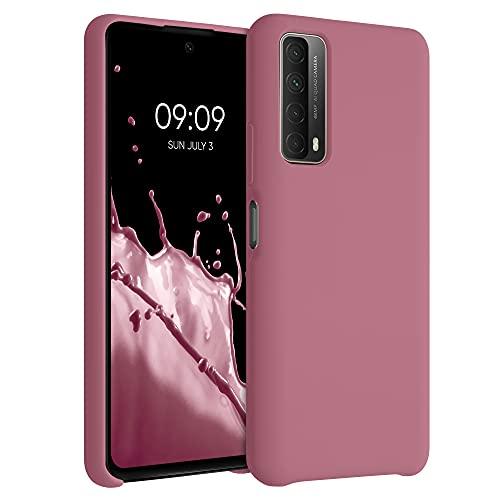 kwmobile Hülle kompatibel mit Huawei P Smart (2021) - Hülle Silikon gummiert - Handyhülle - Handy Hülle in Deep Rusty Rose