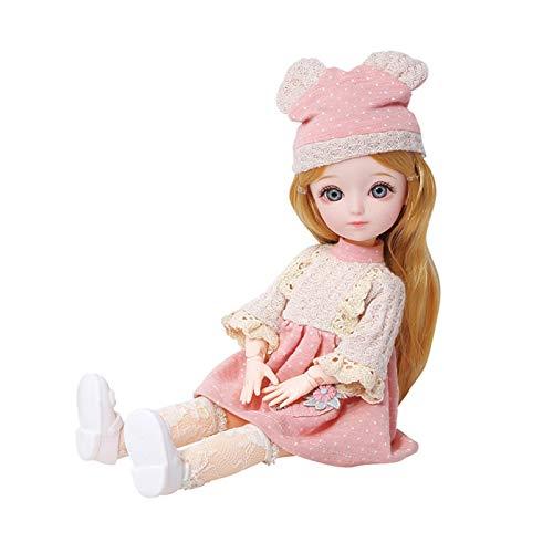 AIflyMi 3D Doll Princess Set Sicheres langlebiges Dress Up Girl Toy Geschenk mit beweglichen Gelenken Rapunzel...