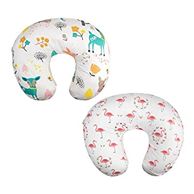 ALVABABY 2pack Pillow Cover Soft and Comfortable for Breastfeeding Moms Soft Fabric Fits Snug On Infant Nursing Pillows to Mothers While Breast Feeding Baby Shower Gift 2UBZTW08