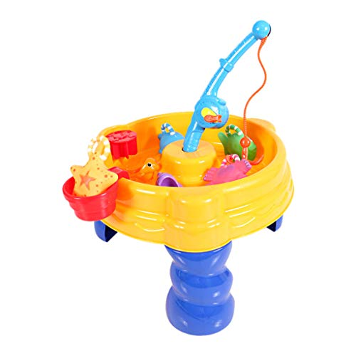 Hisoul Beach Water and Sand Toys Set for Kids - Child Summer Fun Water Table Watering Can & Spade & Water Table Toy Set, Best Interaction Gifts for Boys and Girls ( A)