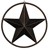 Western Star 4900 Custom Grilles - EBEI Large Metal Barn Star Circle Rustic Style Outdoor Decorative 31.5