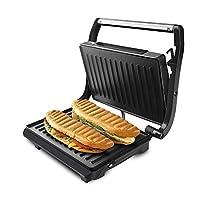 Taurus Grill & Toast, Piastre Tostapane mini bistecchiera 700W, Piastre antiaderenti, colore Nero