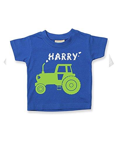Ice-Tees T-shirt personnalisé pour bébé/enfant Motif tracteur Big Farm - Bleu - 6-12 mois