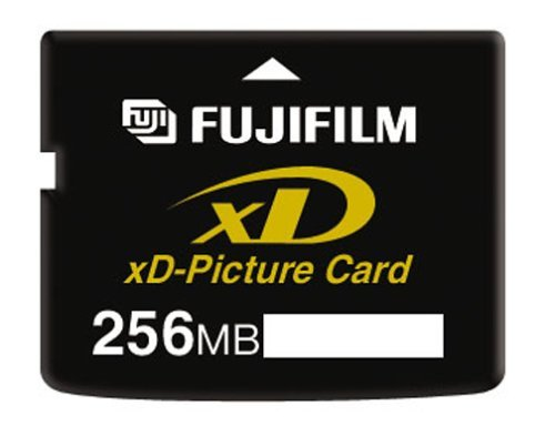 FujiFilm 256 MB xD Picture Card, Type M (600004661) 1 High capacity flash memory format for digital cameras TYype M 256 MB storage capacity 1.3 MB/sec record speed, 5MB/sec read speed