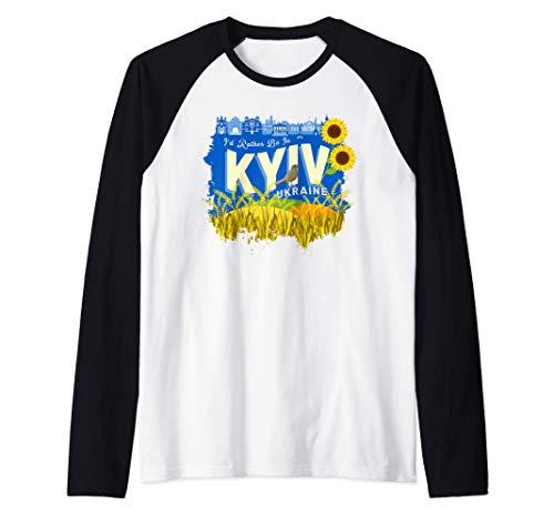 Prefiero estar en Kiev, Ucrania - Recuerdo de Ucrania Camiseta Manga Raglan