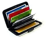MAXBOX - Premium Kreditkartenetui I RFID & NFC Schutz I Karten Etui silber mit 6 Fächer für bis zu 12 Karten