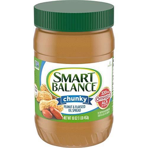 Smart Balance Rich Roast Chunky Peanut Butter, 16 Ounce -- 12 per case.