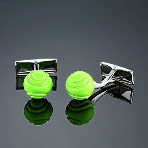 XKSWZD Sportief Ontwerp groen Tennis Manchetknopen Heren Kleding Emaille Sieraden Shirts Manchetknopen Beste Gift