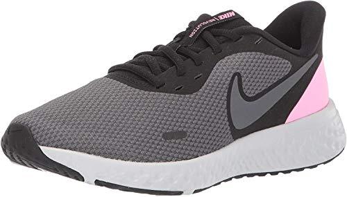 Nike Women's Revolution 5 Running Shoe, Black/Psychic Pink-Dark Grey, 9 Wide US