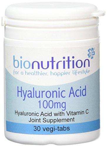 Bio Nutrition Hyaluronic Acid 100mg - Joint & Skincare Supplement - 30 vegi-tabs