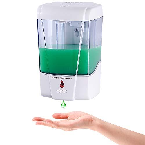 interhasa! Automatic Soap Dispenser Wall Mount, Hand Sanitizer Dispenser 600ml/20oz Touchless Sensor Hand Free Soap Dispenser for Gel/Liquid , ABS Plastic, White